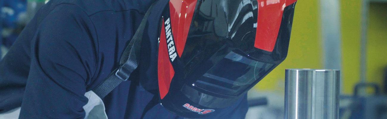 Maschere saldatura auto oscuranti in vendita - Banner Pantera - SACIT